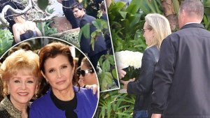 carrie fisher debbie reynolds funeral memorial service