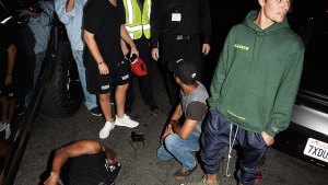 justin bieber hits photographer with car