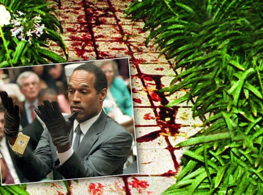 oj simpson bloody crime scene photos