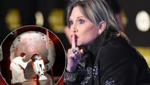 carrie fisher death star wars