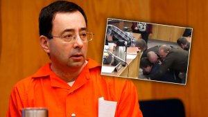arry nassar olympics courtroom attack