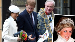 meghan markle wedding gown diana
