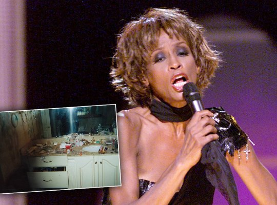 whitney houston drugs bathroom photo kanye