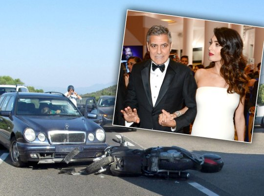 george clooney amal motorcycle accident