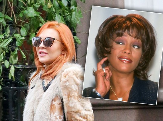 lindsay lohan whitney houston drug scandals F