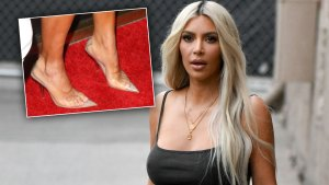 kim kardashian feet shoes scandals
