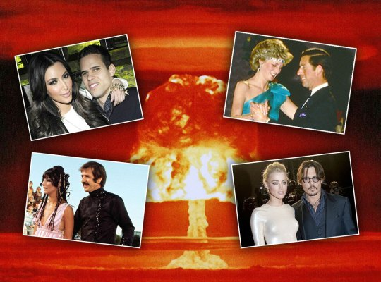 celebrity divorce scandals worst list