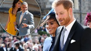 george clooney prince harry meghan godparents