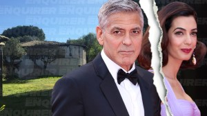 George clooney amal divorce flees island hideaway bans actor sardina villas pp edit