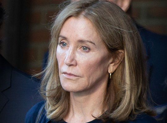 Felicity Huffman leaving court after sentencing