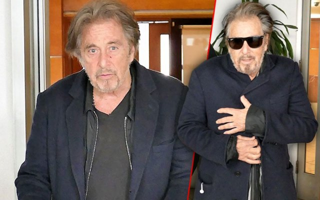 al pacino looks not so good all bundled up