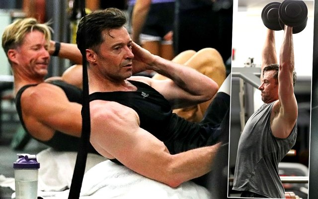 Hugh Jackman's Steamy Beach Bro Workout!