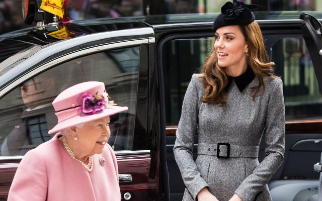 Kate Middleton Makes First Solo Appearance With Queen Elizabeth