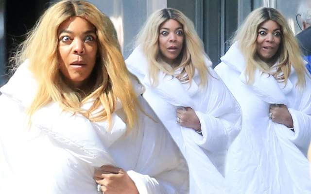 Wendy Williams Steps Out In Giant White Coat After Show Return