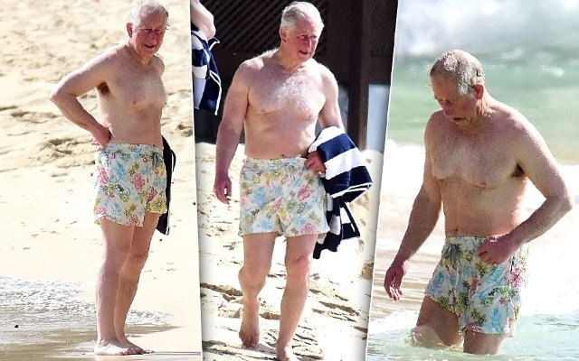 Yikes! Prince Charles Shows It All Off In Rare Bathing Suit Pics