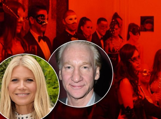 Bill Maher and Gwyneth Paltrow