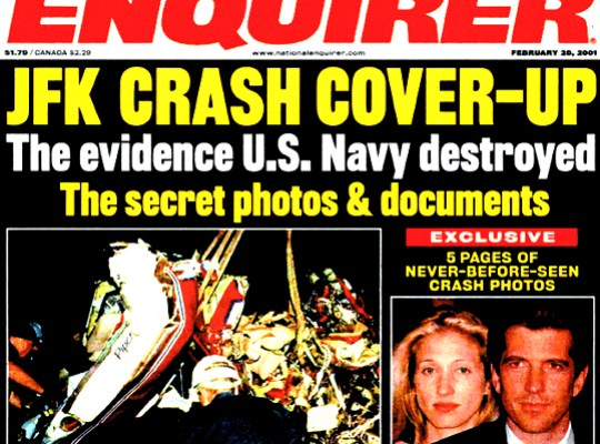 Image result for national enquirer jfk jr crash