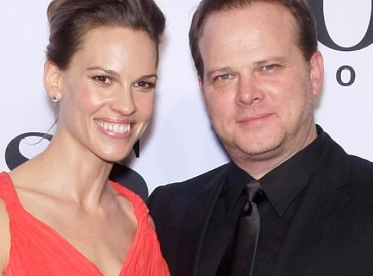Hilary Swank and her brother, Daniel Swank